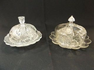 Clear Glass Domed Dishes  2