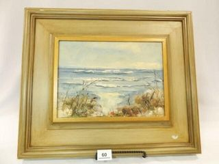 Canvas Seascape  Framed  20  x 17