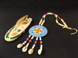 Beaded Necklace  Moccasin
