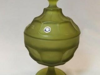 Westmoreland Green Glass  with lid