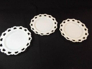 Milk Glass 8  Plates   3