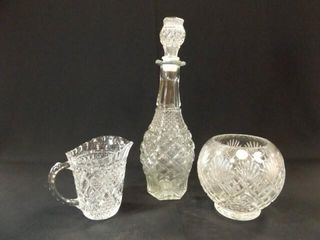 Clear Glass Decanter  Pitcher  Bowl  3