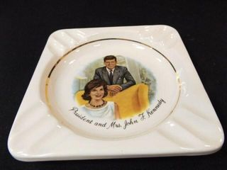 President and Mrs  Kennedy Ash Tray