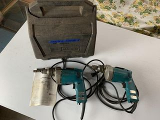 2   Makita Electric Screwdrivers