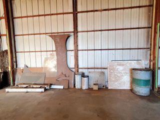 scrap metal  aluminum  55 gallon drum  asst metal