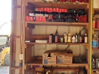 Contents of shelf Oils   Christmas lights