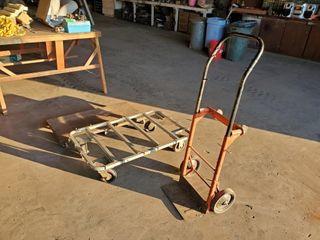 two wheel dolly  rolling cart  steel frame