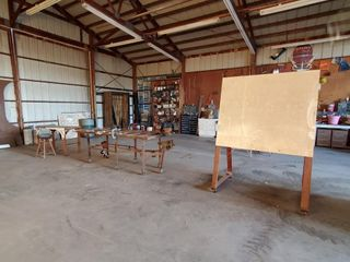 A frame dry erase board  Table  Workbench w Vice