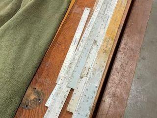 Assorted Straight Edge Rulers