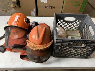 2   Stihl Guard Helmets   Chaps