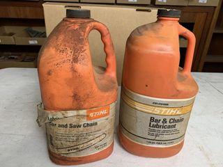 2   Full Stihl Chain lubricant