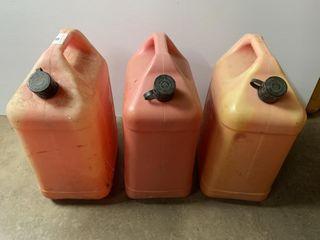 3   6 Gallon Gas Cans