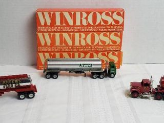 3 Winross Trucks   2 long Nose Style  Fire Depts    1 Day Runner Tankers   WIll SHIP