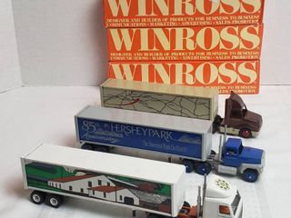 3 Winross Trucks   2 long Nose Style   1 Cab Over Style   WIll SHIP