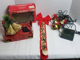 2 Set of Electronic Chiming and light up Bells  both work  and Wall Hanging Bells