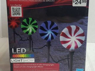 18  Tall x 6  Wide lollipops Christmas light Show Pathway Stakes