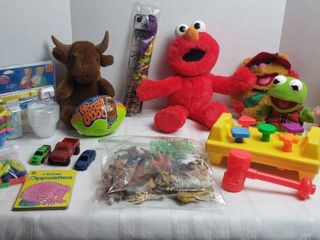 Stuffed Animals  Plastic Animals  Cars  Magnetic letters  and other toys