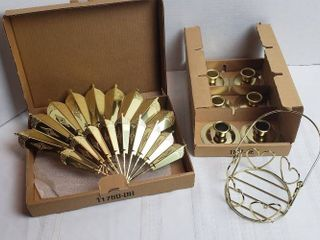 Home Interiors   Gifts Candle Holders and Metal Wall Fan Decor
