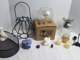 Home Decor   candles  holders  and figurines