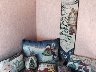 Holiday Pillows  Wall Hanger and Gift Bags