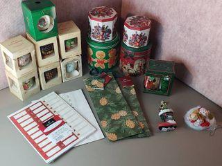 Christmas Ornaments  Tins  Mug  Gift Bags  and labels