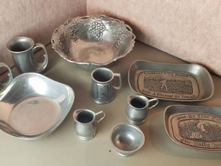 Cast Aluminum Serving Dishes  Mugs  and Pitchers