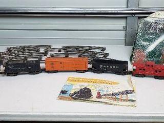 American Flyer Train Set   Train  Transformer  Curved Track  Paper Mache Tunnel and literature