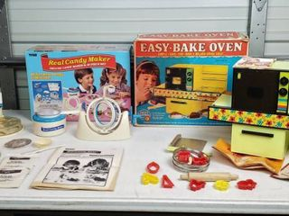 Vintage Kenner Easy  Bake Oven  works and Tyco Real Candy Maker