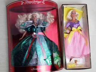 Mattel Barbies   Happy Holidays Special Edition 1995   Spring Blossom Avon Special Edition   First on Series  both NIB