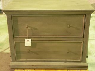 Home Decorators Collection Gray 2 Drawer lateral File Chest   metal bars removeable to convert to 2 drawer chest of drawers   38 x 18 x 30 5 in  tall   furniture dolly NOT included