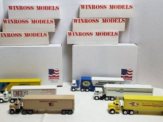 6 Winross Trucks   3 Cab Over Style   3 Vintage Style Day Runners   WIll SHIP