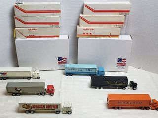 6 Winross Trucks   4 Cab Over Style   2 Vintage Day Runners   WIll SHIP