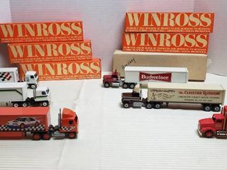 6 Winross Trucks   3 Cab Over Style  1 Straight   2 long Nose   WIll SHIP