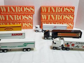 6 Winross Trucks   Cab Over Style   WIll SHIP