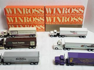 6 Winross Trucks   long Nose Cab Style   WIll SHIP