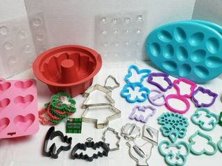 Baking Silicone Molds  Candy Molds  Egg Holders and Cookie Cutters