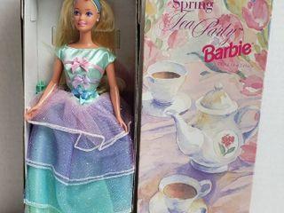 Spring Tea Party Barbie   Third in a Series   Avon Special Edition  NIB