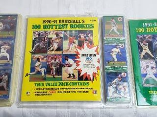Baseball Rookie Books and Cards Packages   1988 89  1990 91    1991 92