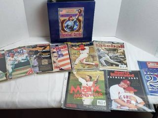 Beckett Baseball Card Monthly Magazines  Mark McGwire Special Magazine  and 2 Sports Illustrated Magazines w 3ring Binder