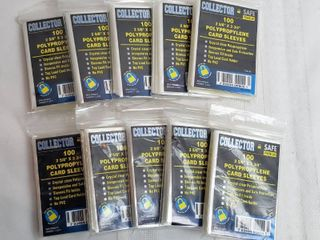 10 Packages of 100 Pk of 2 5 8 x 3 3 4 in  Polypropylene Card Sleeves   Top load