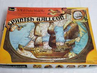 Vintage Revell Spanish Galleon Model Kit  1972    18 x 13 in