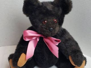 Glass Dragon Bear   Unique Individually Hand Crafted Jointed Bear   Signed   Numbered   Made by Bettina F  Groh   18 in  Black Bear  1042
