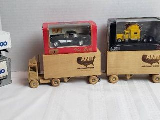 Die cast and Wood Trucks and Car