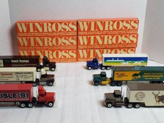6 Winross Trucks   long Nose Style  WIll SHIP