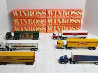 6 Winross Trucks   4 Cab Over Style   2 Day Runners   WIll SHIP
