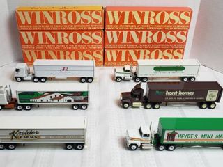 6 Winross Trucks   3 long Nose Style   3 Cab Over Style   WIll SHIP