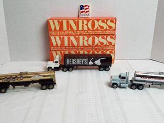 3 Winross Trucks   long Nose Style   Hershey s Chocolate Trucks   WIll SHIP