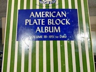 Vintage American Plate Block Album   96 Pages Total   Over 290 MNH Plate Blocks In Plastic Covers