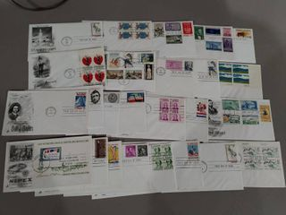 lot of 25 Assorted First Day Covers   Art Craft Cachetes   Unaddressed