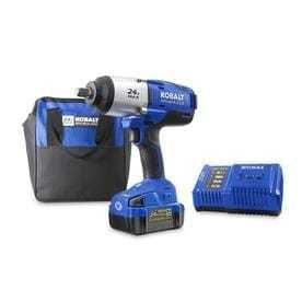 Kobalt 24 volt Max 1 2 in Drive Brushless Cordless Impact Wrench  1 Battery Included  Included
